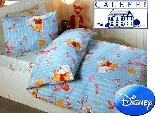 Trapuntino 1 Piazza E Mezza Caleffi Disney Winnie Pooh Azzurro Cotone