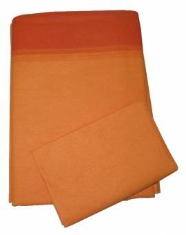 Completo Lenzuola Letto Una Piazza e Mezza Gabel in Puro Cotone edizione Speciale Arancione