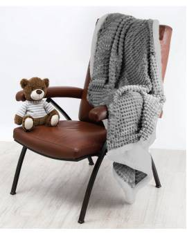 Coperta matrimoniale morbido PLAID Coccodrillo tipo lana merinos