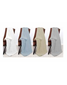Coperta matrimoniale morbida PLAID tipo lana merinos IDEA REGLO effetto pelo