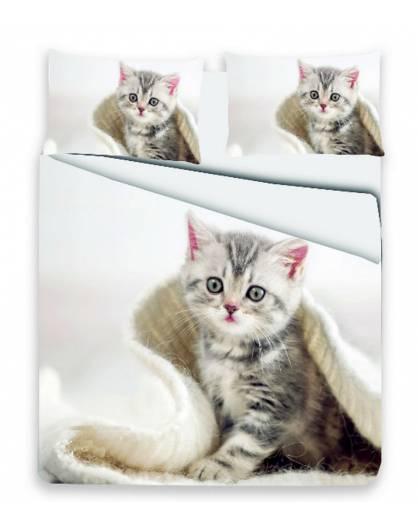 Parure Copripiumino sacco piumino letto matrimoniale gatto micio