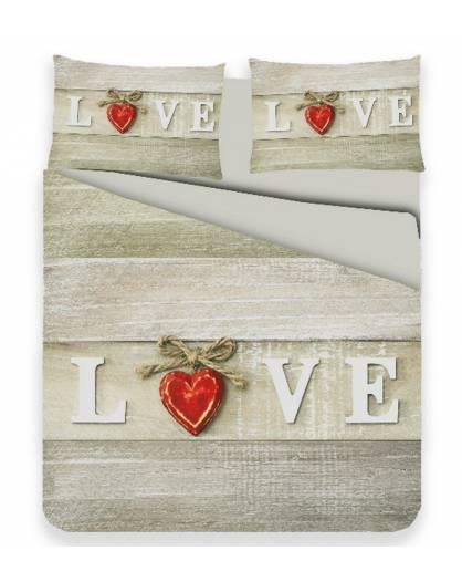 Parure Parure Copripiumino microfibra sacco piumino letto matrimoniale love amore