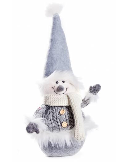 Fermaporta Pupazzo di Neve Imbottito 43 cm Soprammobile Idea Regalo Arredamento
