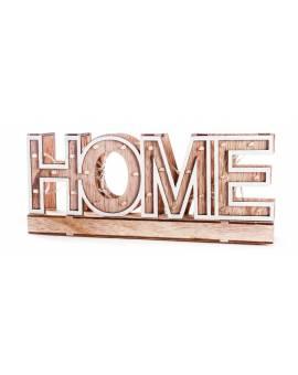 Scritta Luminosa A Led In Legno Home Arredo Casa Sopprammobile