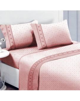 Offerte pazze Comparatore prezzi  Completo Lenzuola Matrimoniale Flanella Caldo Cotone 2 Piazze Pois  il miglior prezzo