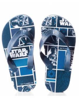 Ciabatte Infradito Star Wars Guerre Stellari Bimbo in Gomma Blu