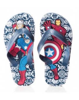 Ciabatte Infradito Avangers Iron Man Capitan America In Gomma Blu