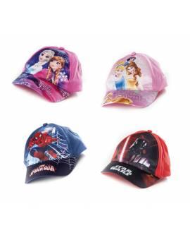 Cappellino Con Visiera Ufficiale Frozen Star Wars Spiderman E Principe
