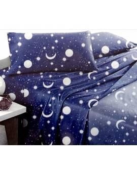 Completo Letto una Piazza e Mezza cielo stellato moon BLU notte
