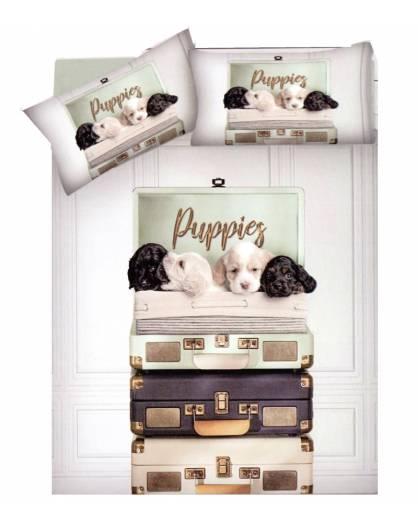 Piumone Matrimoniale Animali.Sacco Copri Piumino Puro Cotone Letto Matrimoniale Cani Puppie