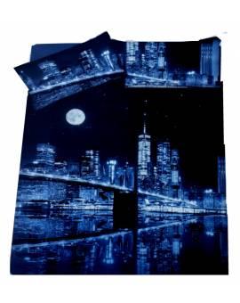 Parure Sacco Copripiumino Una Piazza Singolo Stampa Digitale Paesaggio Città notte