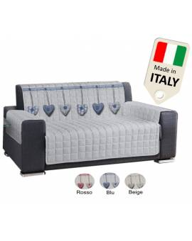 Copridivano Antiscivolo shabby cuori Made in Italy prodotto Italia OFFERTA