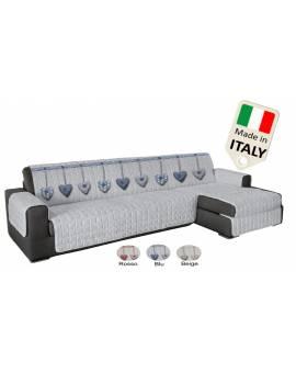 Copridivano penisola per seduta a destra e sinistra ANTISCIVOLO made in Italy