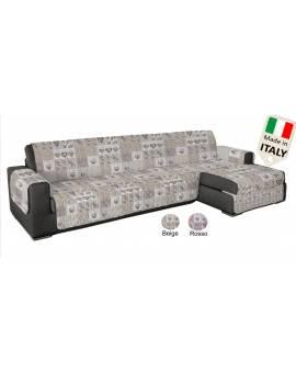Salvapenisola ANTISCIVOLO made in Italy per divano con penisola disegno shabby