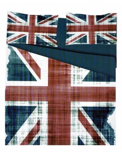 Parure Copripiumino microfibra sacco piumino letto matrimoniale Bandiera Inghilterra