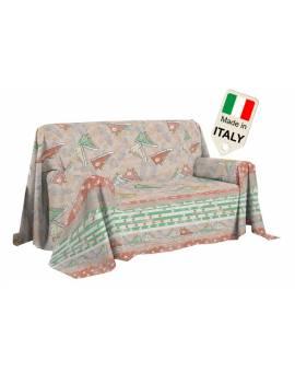 Telo arredo copridivano copriletto copritutto gran foular made in Italy cotone