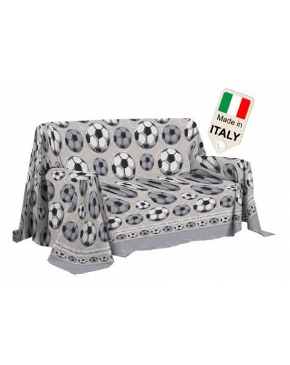 Telo Copri tutto made in Italy, copridivano con pallone e colori delle squadre