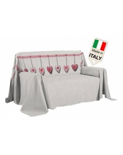 Copridivano arreda tutto con cuore appeso shabby gran foular Made in Italy