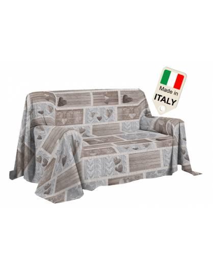 Copridivano copriletto shabby love copritutto made in Italy gran foular telo
