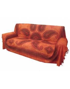 Telo arredo copri divani copriletto copritutto gran foular FRANGE Batik stile etnico