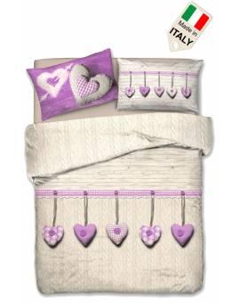 Sacco copripiumino per letto matrimoniale e singolo made in Italy cotone al 100%