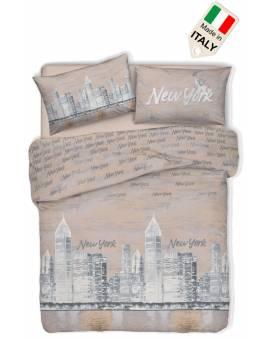 Copripiumino New York città americana sacco per piumino Made in Italy