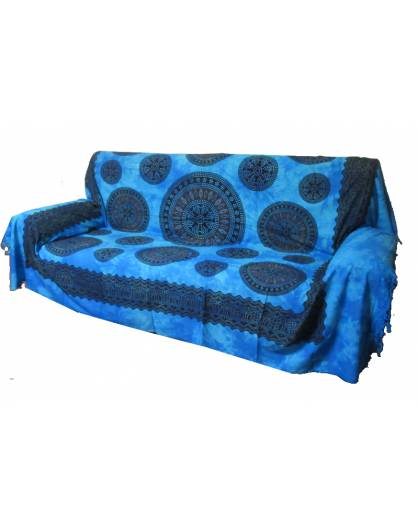 Copri divano copri letto copri tutto ARAZZO gran foular FRANGE Batik Mandala