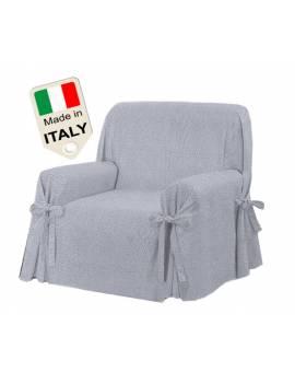 Copridivano con laccetti copertura poltrona tipo BORBONESE Made in Italy