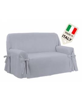 Copridivano lacci Made in Italy copritutto sagomato con laccetti per divano