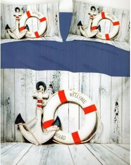 Lenzuola Copriletto 1 Piazza e mezzo il lenzuolo copri letto in puro cotone