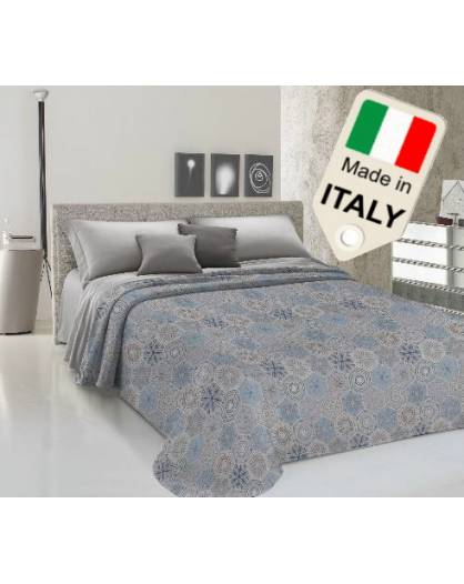 Copriletto estivo primaverile prodotto in Italia in cotone sottocosto affare