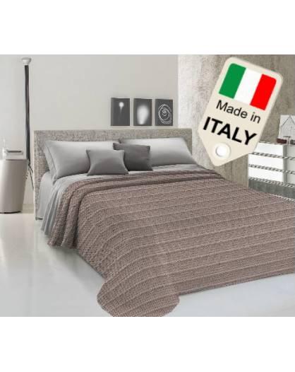 Copriletto estivo primavera prodotto Italia disegno zig zag tipo Missoni