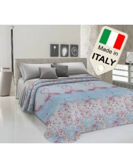 Copriletto estivo primaverile fenicottero flamingo fenicotteri moda made Italy