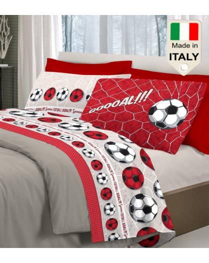 Completo lenzuola letto Napoli Juve Milan Inter squadre calcio pallone