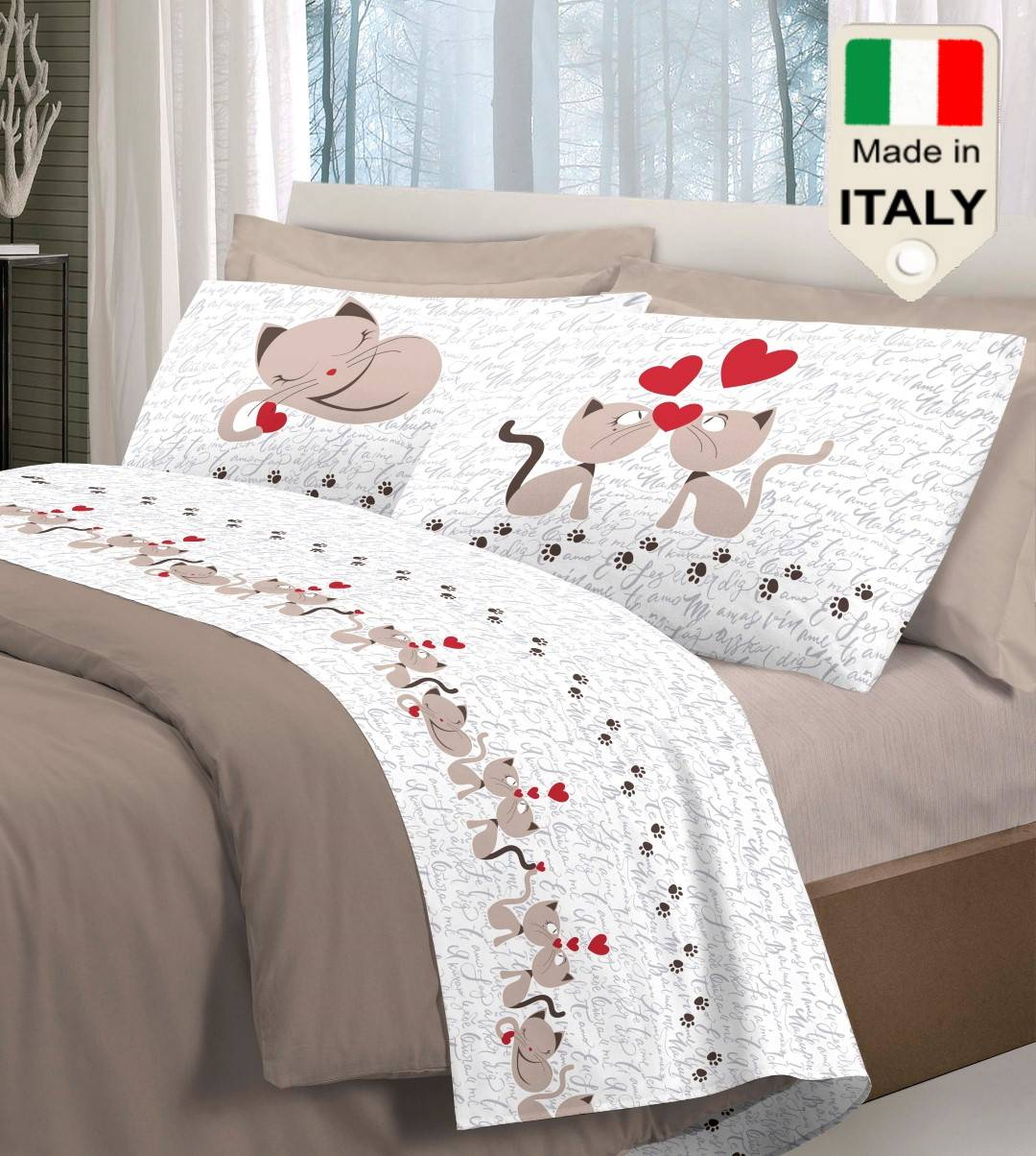 Completo Lenzuola Letto Made In Italy