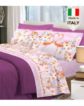 Completo lenzuola letto fenicottero flamingo moda fashion AFFARE SOTTOCOSTO