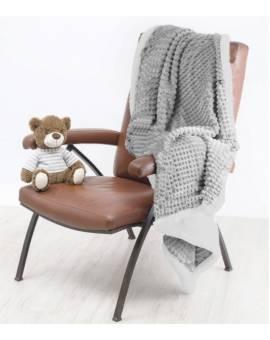 Coperta letto singolo morbido PLAID Coccodrillo tipo lana merinos