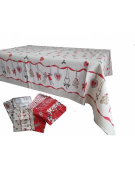 Tovaglie MADE in ITALY Natale natalizia per 6 e 12 persone in cotone STOCK