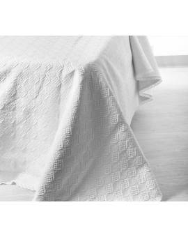 Quilt Trapuntino matrimoniale Copriletto pizzo uncinetto coperta della nonna