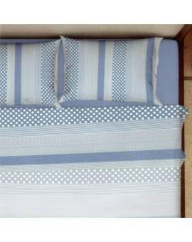 Completo letto lenzuolo biancheria Letto Matrimoniale pois righe