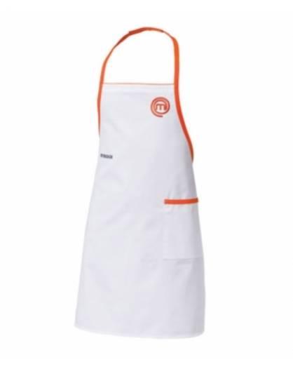 Grembiule cuoco MasterChef Italia Bianco con tasca ricamato cucina SIGGI Unisex
