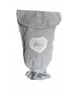 Porta sacchetti di plastica buste della spesa in tessuto Shabby