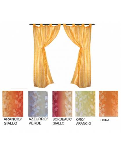 Coppia Tende porta finestra cucina salotto cm 60x220 STOCK fiori degradè