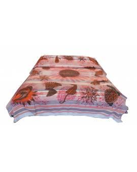 Copridivano copriletto copritutto telo arredo Batik Mandala corallo mare