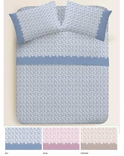 Completo Letto piazza e mezza in cotone fiorato lenzuolo sotto elastici