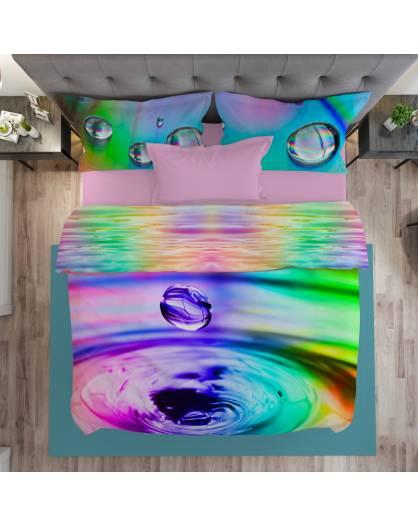 Parure Sacco Copripiumino stampa Digitale effetto 3D Made in Italy Cotone