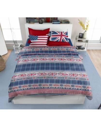 Paroure copripiumino lenzuola letto coordinabili con disegno bandiere