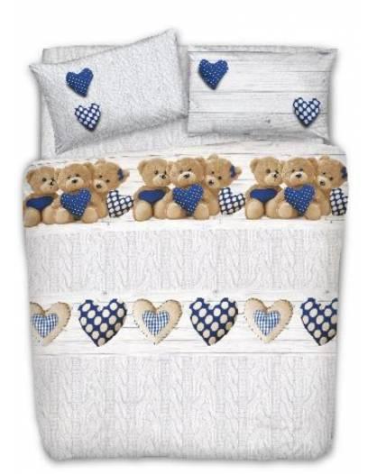 Copri piumino orsetti letto matrimoniale e singolo animali Cotone Made in Italy