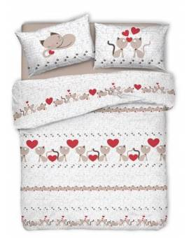 Copripiumino Gattini Gatti Love animali sacco per piumino letto Made in Italy
