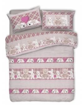 Copri piumino Peluche Pupazzi animali sacco per piumino letto Made in Italy